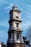 Dolmabahce palace. Clock tower in istanbul, Turkey stock photos