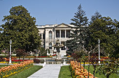 Dolmabahce palace. (last sultan palace in Istanbul, Turkey stock photography