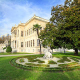 Dolmabahce palace at autumn - istanbul Stock Photography
