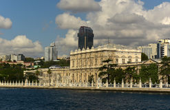 Dolmabahce Palace. At besiktas disctrict Royalty Free Stock Images