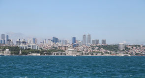 Dolmabahce Palace and Besiktas in Istanbul City, Turkey Stock Photos