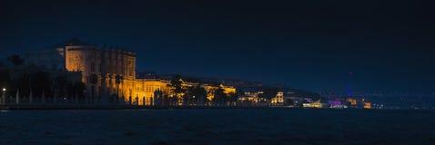 Dolmabahce Palace and The Bosphorus Bridge Stock Photos