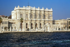 Dolmabahce palace at the Bosporus coast, Istanbul Stock Photo