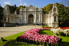 Dolmabahce palace entrance Stock Image