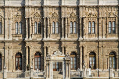 Dolmabahce Palace. The entrance of Dolmabahce Palace seen from the water Stock Photo
