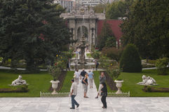 Dolmabahce palace gardens, Istanbul stock images