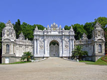 Dolmabahce palace gate Stock Photo