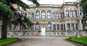 Dolmabahce Palace Grounds Stock Photo