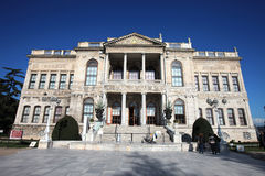 Dolmabahce Sarayi palace in Istanbul Royalty Free Stock Images