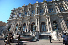 Dolmabahce Sarayi palace in Istanbul Stock Photography