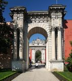 Dolmabahce Palace in Istanbul Royalty Free Stock Photo