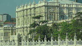 Dolmabahce palace stock video footage