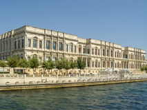 Dolmabahce Palace located by the river in Istambul Stock Images