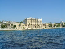 Dolmabahce Palace located by the river in Istambul Royalty Free Stock Photo