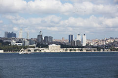 Dolmabahce palace from Marmara Sea Stock Image