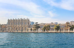 Dolmabahce palace near Bosphorus in Istanbul Stock Photo