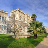 Dolmabahce palace at winter - istanbul Royalty Free Stock Photos