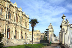 Dolmabahce palace at winter - istanbul Stock Photo