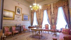 Dolmabahce-Palast, Kabinett von Mustafa Kamal Ataturk stock footage