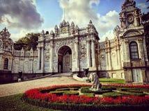 Dolmabahce sarayi główna brama Istanbul obraz stock