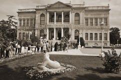 Dolmabahce slott Fotografering för Bildbyråer