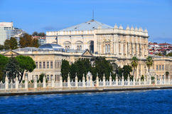 Dolmabahce slott Arkivbild