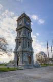 Dolmabahce Zegarowy wierza, Istanbuł, Turcja Zdjęcia Stock