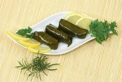 Dolmadakia - exotic food Royalty Free Stock Images