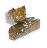 Dolmades (isolated on white) Stock Image