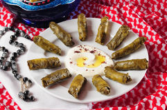Dolmades with laban Stock Image