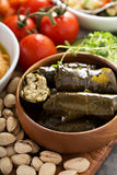 Dolmades, Stuffed Grape Leaves with rice Royalty Free Stock Photo