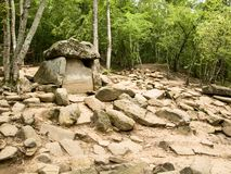Dolmen. 10. Megalithic construction (4000 BC to 3000 BC), the Krasnodar region, Russia Royalty Free Stock Photography
