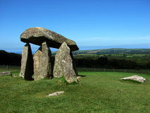 Dolmen. In the welsh country landscape Royalty Free Stock Photo