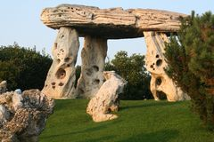 Dolmen. A typical irish dolmen architecture Royalty Free Stock Image