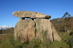 Dolmen. Portugal Alentejo Region Ancient monolithic standing stones or dolmen Royalty Free Stock Image