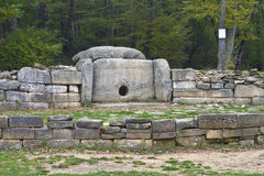 Dolmen. Ancient Dolmen near Gelendzjk, Krasnodar region, Russia Royalty Free Stock Images