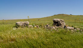 The dolmen, ancient burial place in Gamla Nature Reserve, Israel Royalty Free Stock Image