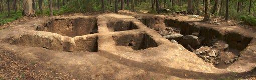 Dolmen av den Cruzinha eller Arribada platsen Esposende Portugal royaltyfri fotografi