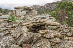 Dolmen bei Revincu in Korsika Lizenzfreie Stockfotografie