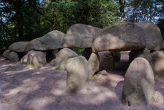 Dolmen in Borger, Drenthe province Royalty Free Stock Photos