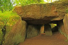 Dolmen in Brittany, France Stock Image
