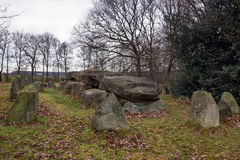 Dolmen D50, an ancient megalithic tomb in the Netherlands Royalty Free Stock Images