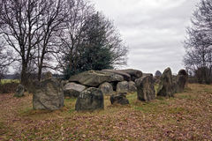 Dolmen D50, an ancient megalithic tomb in the Netherlands Royalty Free Stock Image