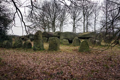 Dolmen D50, an ancient megalithic tomb in the Netherlands Royalty Free Stock Photography