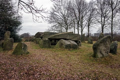 Dolmen D50, an ancient megalithic tomb in the Netherlands Stock Photography
