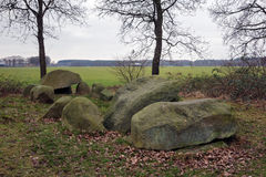 Dolmen D51, an ancient megalithic tomb in the Netherlands Stock Images