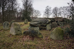 Dolmen D50, an ancient megalithic tomb in the Netherlands Stock Image