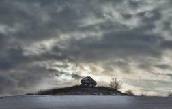 Dolmen das pessoas de 5000 anos, em Fiónia em Dinamarca Fotografia de Stock