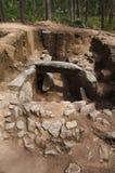 Dolmen de la vista posterior de Cruzinha o de Arribada Esposende, Portugal Foto de archivo libre de regalías