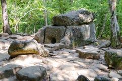 Dolmen in de Zhane-riviervallei, Rusland Royalty-vrije Stock Afbeelding